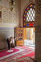 Fes, Morocco.  Entrance to Zawiya of Sidi Ahmed Tijani.