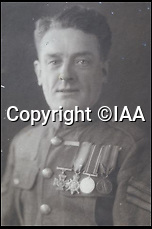 BNPS.co.uk (01202 558833)<br /> Pic: IAA/BNPS<br /> <br /> ***Use Full Byline***<br /> <br /> A hero soldier who won the Victoria Cross in the First World War contemplated desertion after becoming sick of the hell and horror of the Western Front, a recently discovered letter reveals.<br /> <br /> Lance Corporal John Thomas wrote a dispirited letter home to his brother and sister months after displaying incredible bravery that won him the highest military decoration for valour.<br /> <br /> The 31-year-old told his siblings they had no idea of the terrible things the men endured in the trenches and how he considered walking off towards the German lines and be taken prisoner just so the war would be over for him.<br /> <br /> The letter is being sold at auction in London.