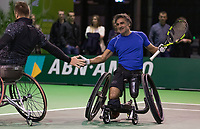 Rotterdam, The Netherlands, 14 Februari 2019, ABNAMRO World Tennis Tournament, Ahoy, Wheelchair, doubles, Stephane Houdet (FRA) Nicolas Peifer (FRA),<br /> Photo: www.tennisimages.com/Henk Koster