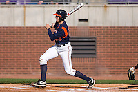 Danny Hultzen #23 of the Virginia Cavaliers follows through on his swing versus the East Carolina Pirates at Clark-LeClair Stadium on February 19, 2010 in Greenville, North Carolina.   Photo by Brian Westerholt / Four Seam Images