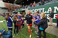 Portland, OR - Saturday, May 21, 2016: Portland Thorns FC midfielder Allie Long (10). The Portland Thorns FC defeated the Washington Spirit 4-1 during a regular season National Women's Soccer League (NWSL) match at Providence Park.