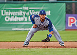 22 June 2017: Brooklyn Cyclones infielder Jose Maria in action against the Vermont Lake Monsters at Centennial Field in Burlington, Vermont. The Cyclones defeated the Lake Monsters 5-3 in NY Penn League action. Mandatory Credit: Ed Wolfstein Photo *** RAW (NEF) Image File Available ***