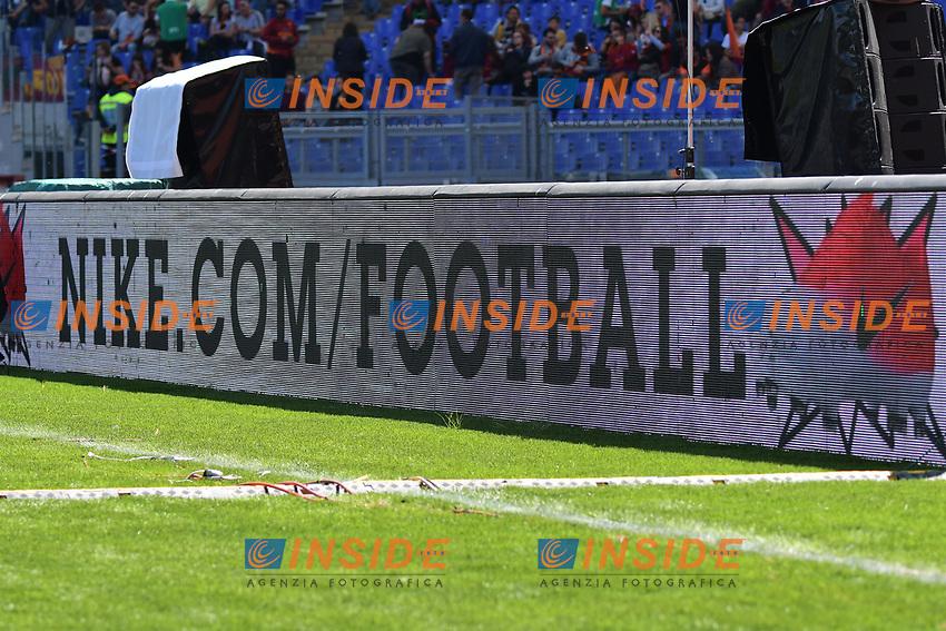 Banner Nike Football pubblicita' <br /> Roma 30-04-2017 Stadio Olimpico Football Calcio Serie A 2016/2017 AS Roma - Lazio Foto Andrea Staccioli / Insidefoto