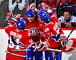 18 December 2008: The Montreal Canadiens celebrate a first period goal against the Philadelphia Flyers at the Bell Centre in Montreal, Quebec, Canada. The Canadiens, trying to avoid a four-game slide, defeated the Flyers 5-2, thus ending Philadelphia's 5-game winning streak. ***** Editorial Sales Only ***** Mandatory Photo Credit: Ed Wolfstein Photo