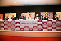 """April 24, 2013, Tokyo, Japan - The organizers of """"Kyoto international Manga Anime Fair 2013""""  at the press conference in Kabukiza Tower, Tokyo. In the press conference the organizers of KYOMAF, Mayor of Kyoto and Japan EXPO (in France) singed a document to collaborate together to promote the anime and manga culture in Europe and United States. The KYOMAF is the largest manga/anime fair in West Japan and will be free entrance for elementary school students and foreigners with passport. It will be held from September 6 to 8 at Miyako Messe, Kyoto. (Photo by Rodrigo Reyes Marin/AFLO).."""
