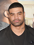 HOLLYWOOD, CA - FEBRUARY 13: Former NFL player Shawne Merriman attends the premiere of Warner Bros. Pictures' 'Fist Fight' at the Regency Village Theatre on February 13, 2017 in Westwood, California.