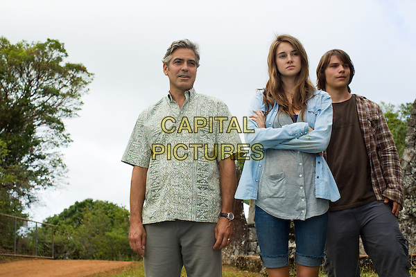 GEORGE CLOONEY, SHAILENE WOODLEY, NICK KRAUSE.in The Descendants.*Filmstill - Editorial Use Only*.CAP/FB.Supplied by Capital Pictures.
