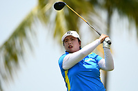 SINGAPORE - MARCH 03: Shanshan Feng of China on the 13th tee during the final round of the HSBC Women's World Championship 2019 at Sentosa Golf Club - Tanjong Course, Singapore on March 03, 2019.<br /> .<br /> .<br /> .<br /> (Photo by: Naratip Golf Srisupab/SEALs Sports Images)<br /> .<br /> Any image use must include a mandatory credit line adjacent to the content which should read: Naratip Golf Srisupab/SEALs Sports Images