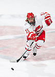Wisconsin Badgers Alev Kelter (15) of the women's hockey team during a photo shoot. This was a staged action shot for the UW Marketing Department. (Photo by David Stluka)
