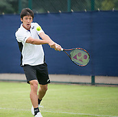 June 10th 2017,  Nottingham, England; ATP Aegon Nottingham Open Tennis Tournament day 1; Yuya Kibi of Japan early in his match against Niklas Johansson of Sweden