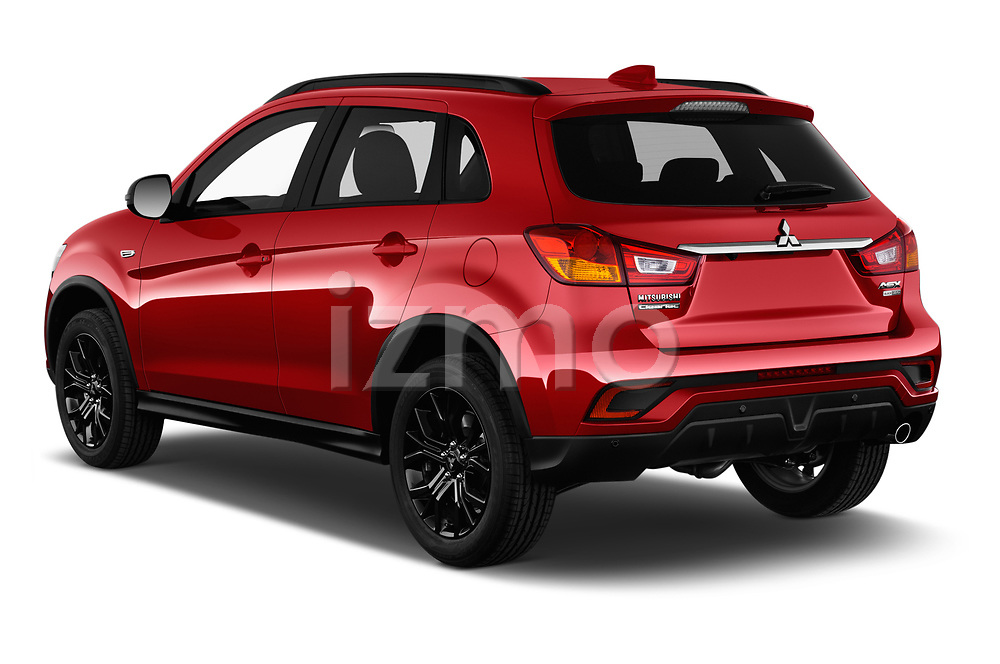 Car pictures of rear three quarter view of a 2019 Mitsubishi ASX Black Collection 5 Door SUV angular rear