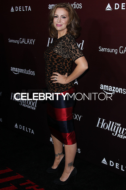 WESTWOOD, CA - NOVEMBER 06: Alyssa Milano at The Hollywood Reporter's Next Gen 20th Anniversary Gala held at the Hammer Museum on November 6, 2013 in Westwood, California. (Photo by Xavier Collin/Celebrity Monitor)