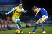 Rotherham United's Jon Taylor battles with Ipswich Town's Callum Elder<br /> <br /> Photographer Hannah Fountain/CameraSport<br /> <br /> The EFL Sky Bet Championship - Ipswich Town v Rotherham United - Saturday 12th January 2019 - Portman Road - Ipswich<br /> <br /> World Copyright &copy; 2019 CameraSport. All rights reserved. 43 Linden Ave. Countesthorpe. Leicester. England. LE8 5PG - Tel: +44 (0) 116 277 4147 - admin@camerasport.com - www.camerasport.com