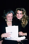 Brooke Shields and mom Teri Shields photographed in New York City, 1989