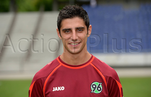 11.07.2013. Hannover, Germany.  Player Lars Stindl of German Bundesliga club Hannover 96 during the official photocall for the season 2013-14 in the HDI Arena in Hannover (Lower Saxony).