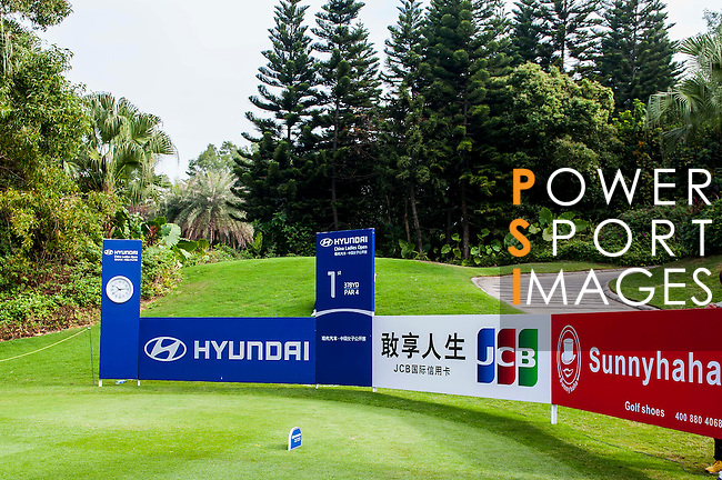 Branding at Golf Course during the Hyundai China Ladies Open 2014 practice day on December 11 2014, in Shenzhen, China. Photo by Xaume Olleros / Power Sport Images