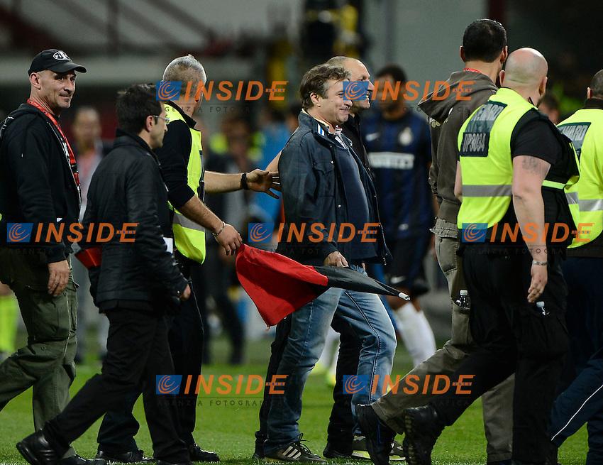 Invasore di campo tifoso Milan<br /> Milano 04-05-2014 Stadio Giuseppe Meazza - Football 2013/2014 Serie A. Milan - Inter Foto Giuseppe Celeste / Insidefoto