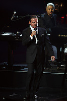 Mexican singer Luis Miguel, during his first night in a series of concerts at the Colosseum at Caesar Palace hotel in Las Vegas Nevada. September 12, 2014.