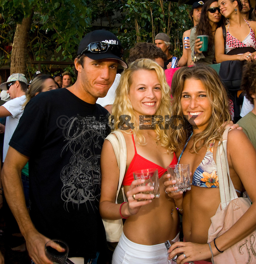 Cory Lopez at the Volcom House party after the final on the Northshore of Hawaii.