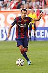Barcelona´s Xavi Hernandez during La Liga match between Rayo Vallecano and Barcelona at Vallecas stadium in Madrid, Spain. October 04, 2014. (ALTERPHOTOS/Victor Blanco)