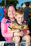 Janice and Rory O'Sullivan (Abbeydorney), pictured at the Kerry Minor home coming at Kilcummin GAA pitch on Monday night last.