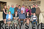 50th Birthday: Tom Stack, Ballyhorgan Lixnaw, celebrating his 50th birthday with family and friends at the Listowel Arms Hotel on Friday night last.Front: Peggy Stack, Bridie Stack, Tom Stack, Marie Stack & Paul Stack. Back : Marie McElligott, Valerie Stack, Jimmy Stack, Mike Stack, Kay Canty, Danny Stack, Rita O'Shea, Elain Stack, Matt Canty & Ollie O'Shea.