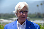 """ARCADIA, CA  JUNE 23: Bob Baffert in his """"office"""" on  """"Justify Day"""" on June 23, 2018 at Santa Anita Park in Arcadia, CA.  (Photo by Casey Phillips/Eclipse Sportswire/Getty Images)"""