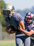 Palos Verdes, CA 09-07-18 - Ethan Gretzinger (Peninsula #5) in action during the Torrance - Palos Verdes Peninsula Varsity football game.