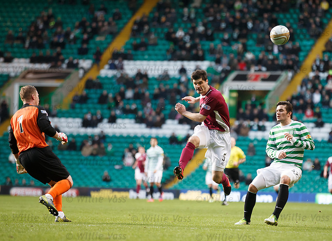 Stewart Malcolm hoofs clear from Tony Watt