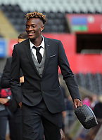 Tammy Abraham of Swansea City arrives prior to the game during the Premier League match between Swansea City and Watford at The Liberty Stadium, Swansea, Wales, UK. Saturday 23 September 2017