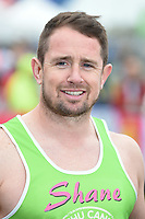 Shane Williams<br /> at the start of the 2017 London Marathon on Blackheath Common, London. <br /> <br /> <br /> ©Ash Knotek  D3253  23/04/2017