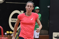 BOGOTA -COLOMBIA. 13-04-2017: Francesca Schiavone (ITA) celebra la victoria después del juego contra Kiki Bertens (NED) de cuartos de final del Claro Open Colsanitas WTA 2017 jugado en el Club Los Lagartos en Bogota. /  Francesca Schiavone (ITA) celebrates the victory after the match against Kiki Bertens (NED) for the quater final of Claro Open Colsanitas WTA 2017 played at Club Los Lagartos in Bogota city. Photo: VizzorImage/ Gabriel Aponte / Staff