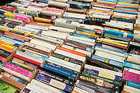 Friday  27 May 2016<br /> Pictured: A selection of second hand books at the hay festival <br /> Re: The 2016 Hay festival take place at Hay on Wye, Powys, Wales