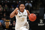 28 January 2016: Wake Forest's Ataijah Taylor. The Wake Forest University Demon Deacons hosted the Florida State University Seminoles at Lawrence Joel Veterans Memorial Coliseum in Winston-Salem, North Carolina in a 2015-16 NCAA Division I Women's Basketball game. Florida State won the game 96-55.