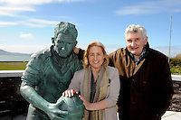 Fianna Fail candidate for the local elections in South Kerry Norma Moriarty from Waterville pictured with  Former Kerry manager Mick O'Dwyer in Waterville and Cahersiveen at the weekend.<br /> Picture by Don MacMonagle