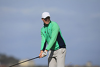 Robin Dawson from Ireland on the 10th tee during Round 2 Singles of the Men's Home Internationals 2018 at Conwy Golf Club, Conwy, Wales on Thursday 13th September 2018.<br /> Picture: Thos Caffrey / Golffile<br /> <br /> All photo usage must carry mandatory copyright credit (&copy; Golffile | Thos Caffrey)