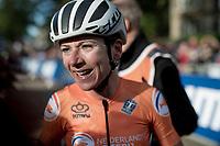 Annemiek van Vleuten (NED/Mitchelton-Scott) becomes the new World Champion after a mammoth 100+ km solo into Harrogate<br /> <br /> Elite Women Road Race from Bradford to Harrogate (149km)<br /> 2019 Road World Championships Yorkshire (GBR)<br /> <br /> ©kramon