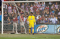 Jon Busch prepares for the shootout. The San Jose Earthquakes defeated Chivas USA 6-5 in shootout after drawing 0-0 in regulation time to win the inagural Sacramento Cup at Raley Field in Sacramento, California on June 12, 2010.