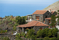 Spain, Canary Islands, La Palma, near Los Llanos de Aridane, Todoque: residential building, stone cottage