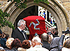 """ROBIN GIBB'S FUNERAL.Robin who died after a lon-running battle with cancer aged 62, was buried at St. mary's Church , Thame, Oxfordshire..Brother Barry Gibb,65, the last surviving member of the Bee Gees was joined by family members for the funeral service..Celebrity guests who attended the funeral included Peter Andre, Tim Rice, Susan George and Leslie Phillips_08/06/2012.Mandatory Credit Photo: ©NEWSPIX INTERNATIONAL..**ALL FEES PAYABLE TO: """"NEWSPIX INTERNATIONAL""""**..IMMEDIATE CONFIRMATION OF USAGE REQUIRED:.Newspix International, 31 Chinnery Hill, Bishop's Stortford, ENGLAND CM23 3PS.Tel:+441279 324672  ; Fax: +441279656877.Mobile:  07775681153.e-mail: info@newspixinternational.co.uk"""