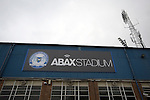 Peterborough United 1 Chesterfield 0, 21/03/2015. Abax Stadium, League One. An exterior photograph of the old main stand at the Abax Stadium, before Peterborough United play Chesterfield in a SkyBet League One fixture. The home team won the match by one goal to nil, watched by a crowd of 6,612. The result allowed Peterborough to leapfrog their opponents into the League One play-off positions with eight games remaining of the season. Photo by Colin McPherson.