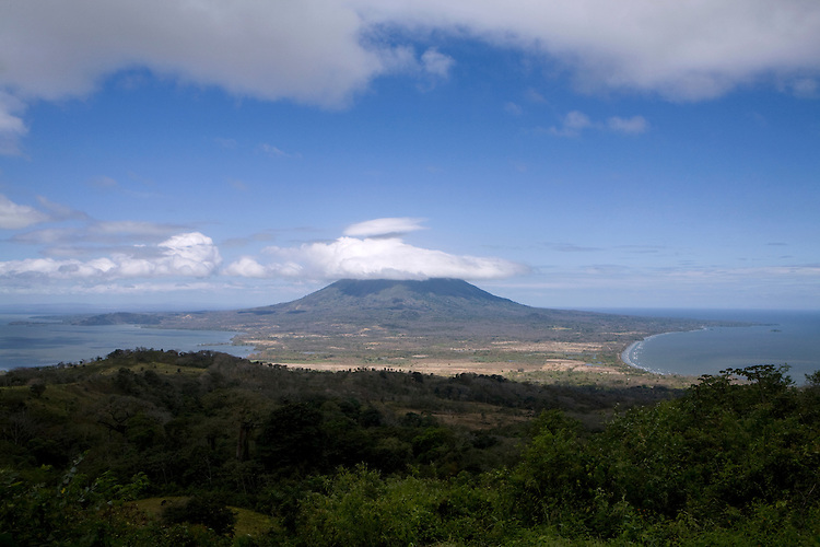 View of la Isla de Ometepe and Volcan Concepcion from the top of Volcan Maderas, Nicaragua