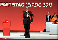 SPD Bundesparteitag im Congress Center Leipzig (CCL) an der Neuen Messe in Leipzig vom 14.11.-16.11.2013 - im Bild: SPD-Spitzenkandidat auf das Kanzleramt im Wahlkampf Peer Steinbrück.<br />  Foto: Norman Rembarz