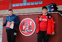 Fleetwood Town fans<br /> <br /> Photographer Leila Coker/CameraSport<br /> <br /> The EFL Sky Bet League One - Fleetwood Town v Walsall - Saturday 5th May 2018 - Highbury Stadium - Fleetwood<br /> <br /> World Copyright &copy; 2018 CameraSport. All rights reserved. 43 Linden Ave. Countesthorpe. Leicester. England. LE8 5PG - Tel: +44 (0) 116 277 4147 - admin@camerasport.com - www.camerasport.com