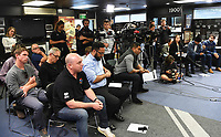 Memebers of the media looks on as New Zealand Kiwis coach David Kidwell during a Rugby League World Cup press conference to annouunce the NZ Kiwis squad for the RLWC 2017. Auckland, New Zealand. Thursday 5 October 2017 © Copyright Photo: Andrew Cornaga / www.Photosport.nz copyright picture SWpix.com/Photosport NZ