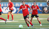 Atlanta midfielder and no. 1 draft pick Tobin Heath (3), collects the ball in midfield.  Atlanta and Philadelphia played to a 0-0 draw in the season opener for both teams at John A Farrell Stadium in West Chester, PA.