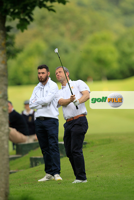 Lewy Halpin (Shannon) on the 4th during the Final between Shannon and Muskerry in the Munster section of the AIG Barton Shield at Dungarvan Golf Club on Saturday 15th August 2015.<br /> Picture:  Thos Caffrey / www.golffile.ie