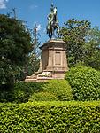The Komatsunomiya Akihito Shinno Statue in Ueno Park in Tokyo