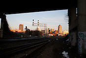Views of the rail system around the Boylan St. Bridge in Raleigh, North Carolina, Feb. 8, 2010.