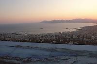 France/06/Alpes-Maritimes/Cannes: Golfe de la Napoule depuis l'observatoire au soleil couchant